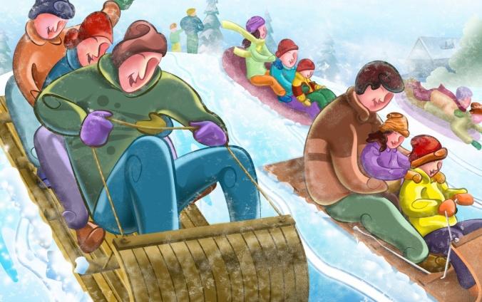 sleigh riding